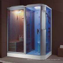 Salle de douche à vapeur rectangle et combinaison de sauna