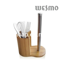 Conjunto de utensilios de cocina de bambú