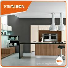 Diseño de gabinete de cocina de pvc estilo americano de servicio satisfactorio