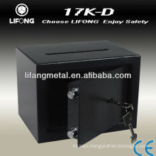 cheap mechanical safe box with coin slot for dropping cash or bank note anti-fishing