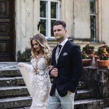 Шампанское Кружева Русалка Пром Формальные Свадебное Платье