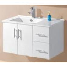 Blanco brillo MDF pared de tocador de baño (UV8027-900W)