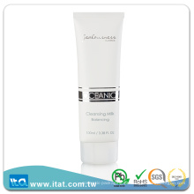 Cosmetic plastic lotion tube packaging container matte glossy verniz
