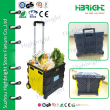 telescopic handle plastic foldable luggage cart