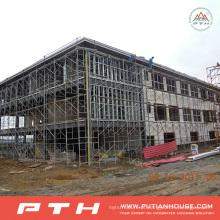Armazém projetado industrial da construção de aço da casa pré-fabricada