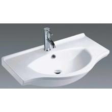 Lavabo de cerámica del gabinete de la cuenca de la vanidad del cuarto de baño (1080)