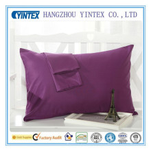 100% Cotton Pillow Case for Hotel Pillow Shams and Satin White Pillow Cover