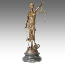 Myth Figure Bronze Sculpture Justice Goddess Deco Brass Statue TPE-438