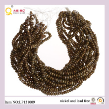 7-8mm oro perla de agua dulce renacida pierda hilos perlas