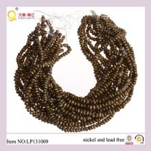Perle d'eau douce récoltée d'or 7-8 mm perde les perles