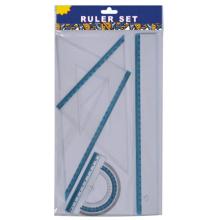 Sistema de regla plástica de 30cm de papelería