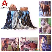 custom photo digital print double layer fleece sherpa blanket