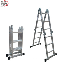aluminum folding step ladder 4*3 with small/big hinges