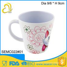 custom print melamine plastic cup handle