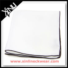 Colored Rolled Hem Woven Handkerchief