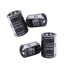 Pressão popular pequena de Etopmaytopmay no capacitor eletrolítico de alumínio terminal 330UF 200V