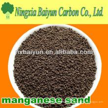 Medios de arena de manganeso para el tratamiento del agua