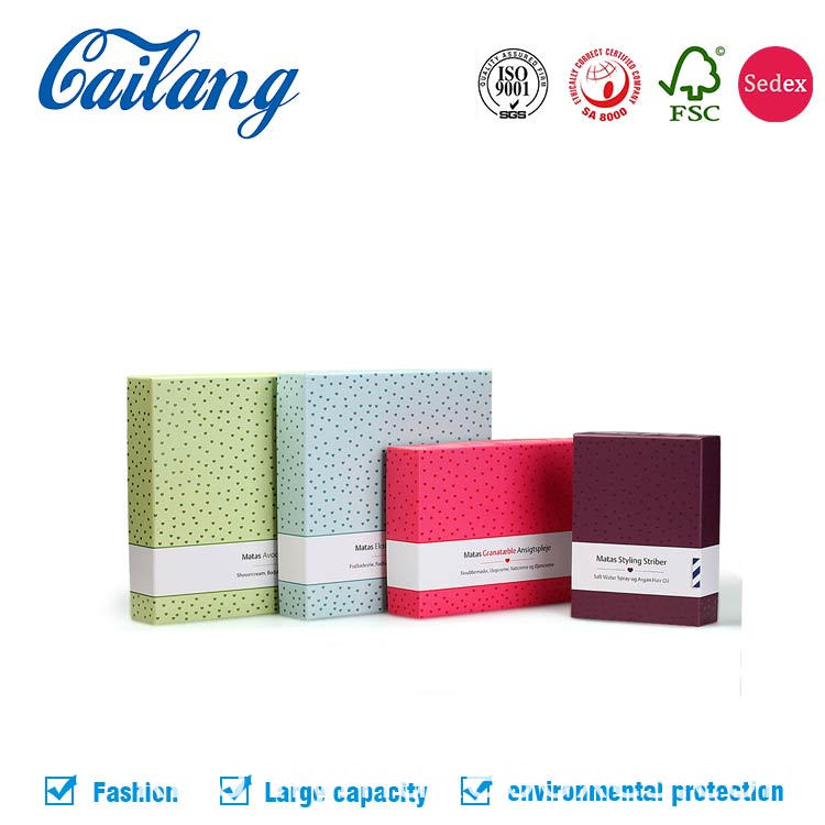 two pieces cosmetics paper box with lid