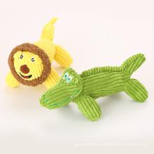 corduroy plush loin and crocodile pet toy