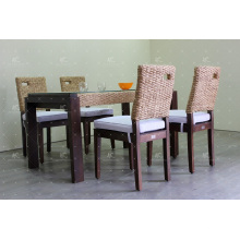 2017 Diseño contemporáneo Jacinto de agua Café y comedor Set Muebles de mimbre