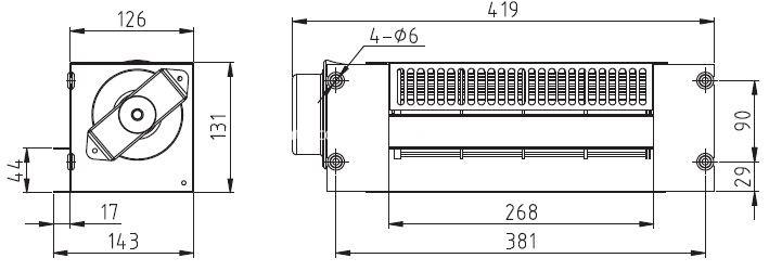 Universal Elevator Cross Flow Fan FB-9B