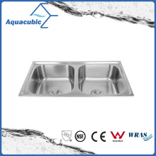 Above Counter Stainless Steel Moduled Kitchen Sink (ACS-7843B)