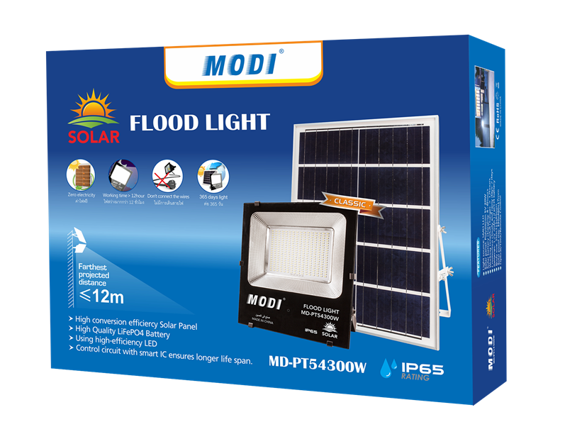 Automatically turn on/off Solar flood lights