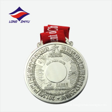 Lembrança de aniversário de liga de zinco Medalha de metal redondo