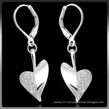 Pendientes de plata de moda con piedra CZ (Q-3996)