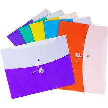 Saco de arquivo de cor dupla com banda de algodão