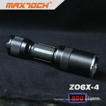 Maxtoch ZO6X-4 18650 batería cargador Cree T6 linterna con zoom