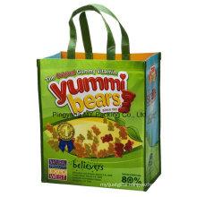 Custom Promotion Shiny Laminated PP Nonwoven Shopping Bag