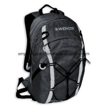 Moda gris 420d Ripstop bolsa de nylon al aire libre mochila