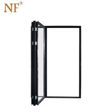 Interior Temporary Insulated Outwards Opening Bi Folding Door Security Doors Double Tempered Glass Aluminium Alloy Exterior Wall
