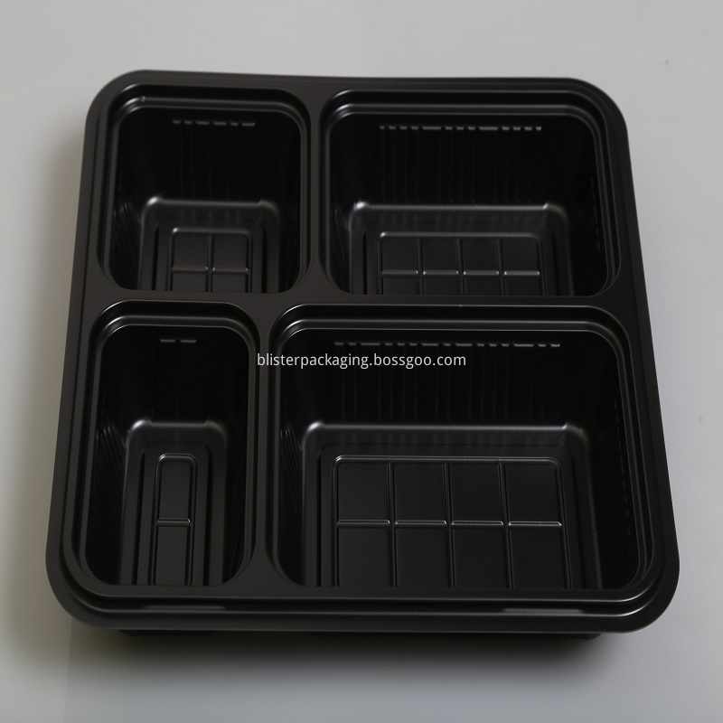 4compartment plastic food container with lid