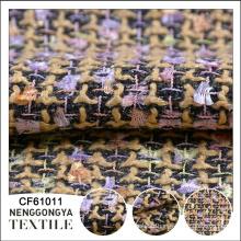 Tissu de canapé de tweed de chenille tissé à la mode de concepteur de bonne qualité