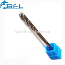 Tungsteno CNC Vástago largo Aluminio flauta recta 8 escariadores de flauta para mecanizado cnc