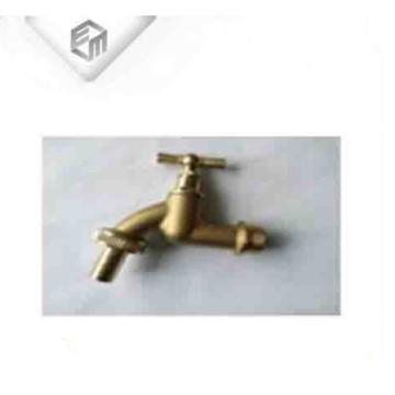 Llave de paso de baño de latón niquelado, pequeño grifo de agua