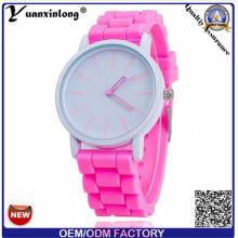 Yxl-319 Werbeartikel Quarz Uhren Dame Watch Jelly Cindy Farbe Silikon Band Frauen Genf Uhr Großhandel