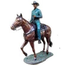homem de bronze e cavalo escultura estátua de cavaleiro