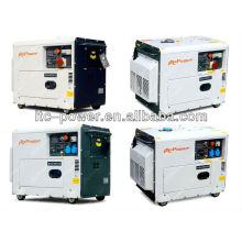 5kW generador de energía eléctrica eléctrica insonorizada silenciosa portátil
