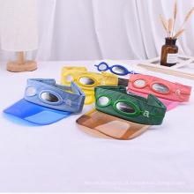 Faixa de cabeça premium com óculos de sol bonés transparentes para viseira de bebê