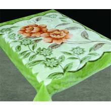Color Verde fresco verano Poliéster barato China manta