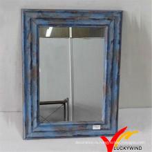 Потертый Chic Blue Малые декоративные рамы деревянные настенные зеркала
