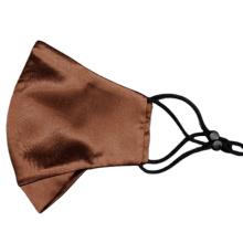couvre-visage en soie de couleur unie respirant et nettoyable réutilisable