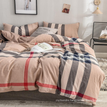 Made in China Duvet Cover Modern Design Comfortable Cotton Fabric for Single 3PCS Bed Linen