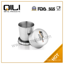 SGS Certificated Stainless Steel Collapsible Pocket Cup