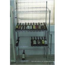 Piso modelo metal slanted prateleira de vinho tinto (wr12035180a4c)
