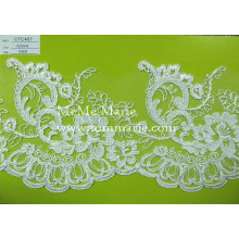 Gorgeous Chantilly Lace Fabric Embroidery Hem Lace Trim for Curtain & Garment CTC457