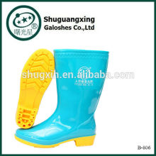 zapatos planos para mujer bota de lluvia pvc B-806